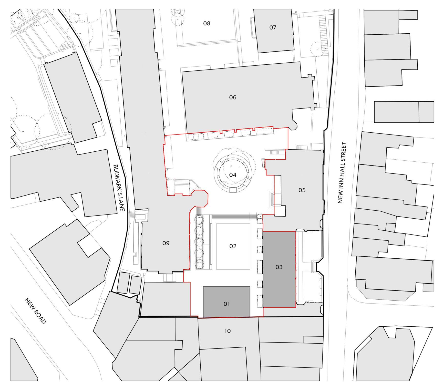 Design Engine Hubert Perrodo Building, St Peter's College Location plan