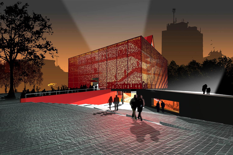 Design Engine Gdansk Theatre External Visualisation