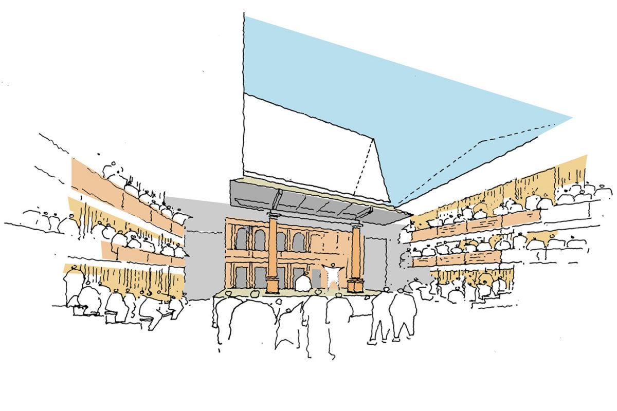 Design Engine Gdansk Theatre Internal Sketch