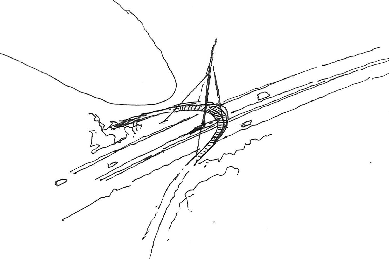 Design Engine Parkway Bridge Sketch
