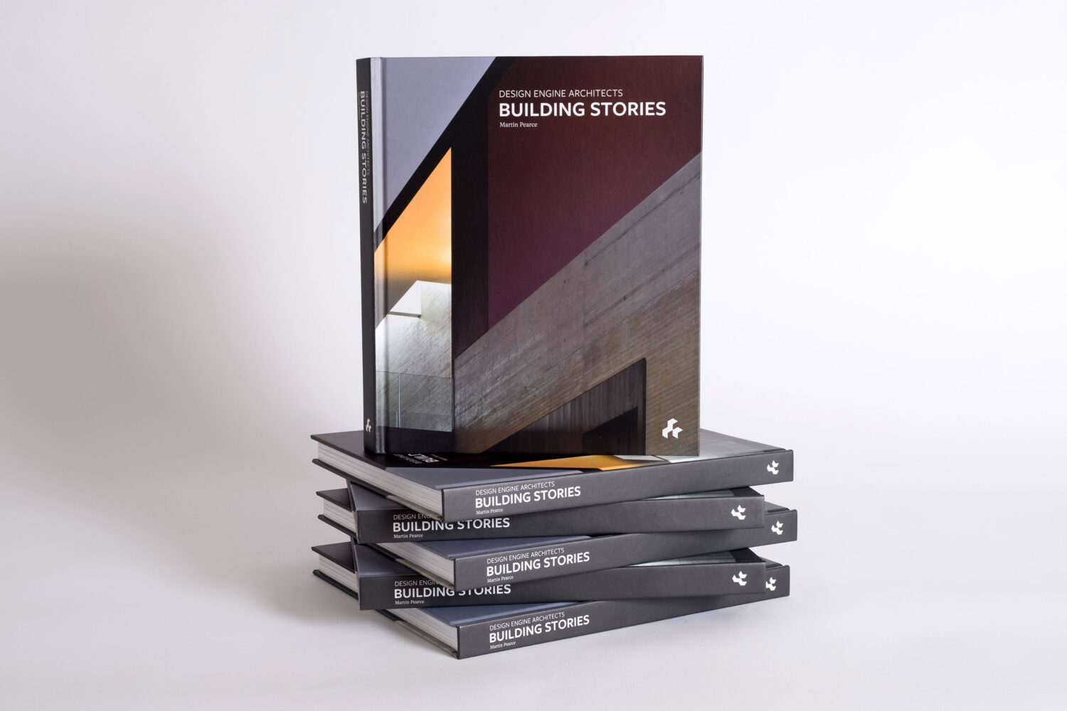 Design Engine Architects Building Stories Book Cover and Spine by Martin Pearce