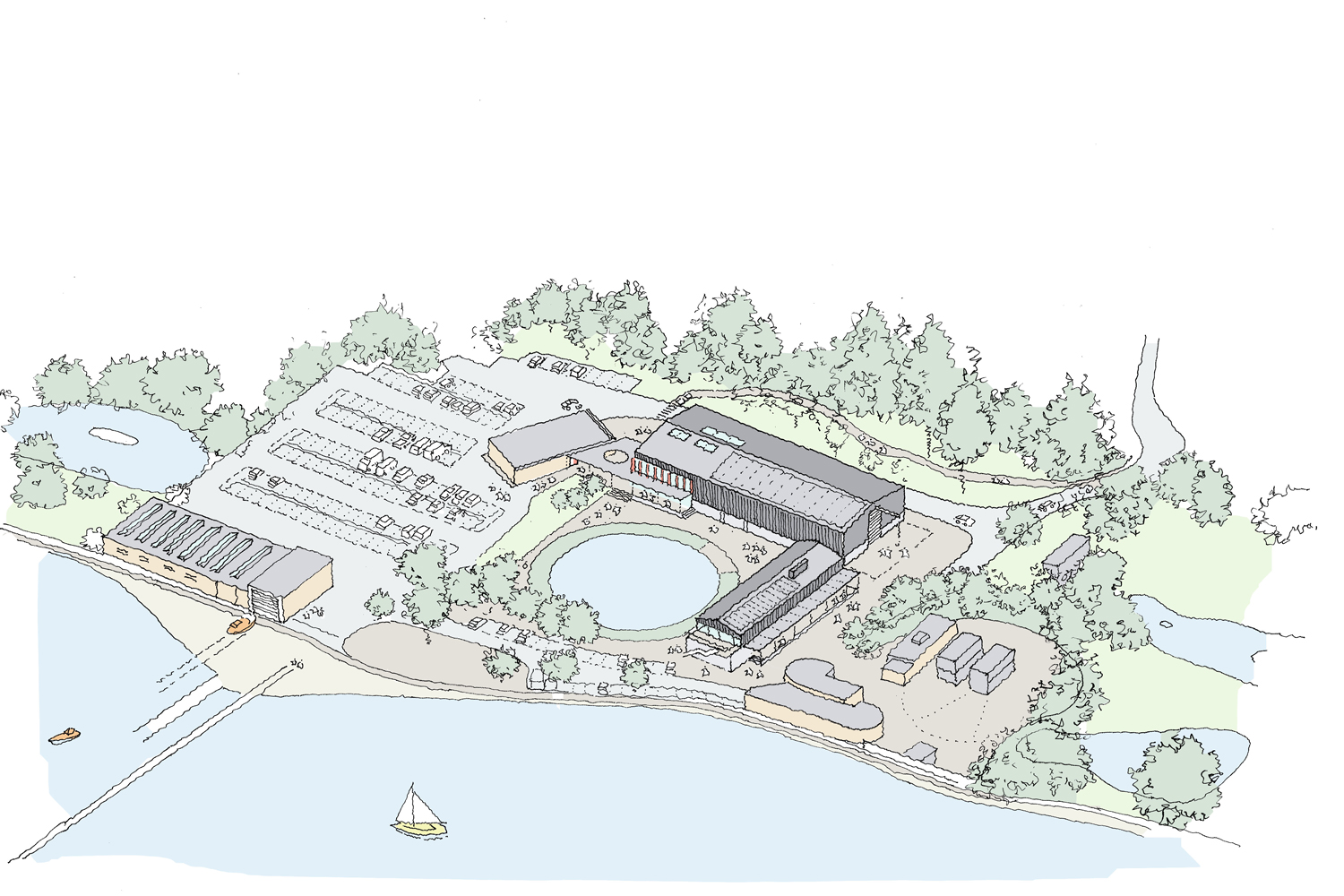 Warsash Maritime Academy Site Overview Drawing