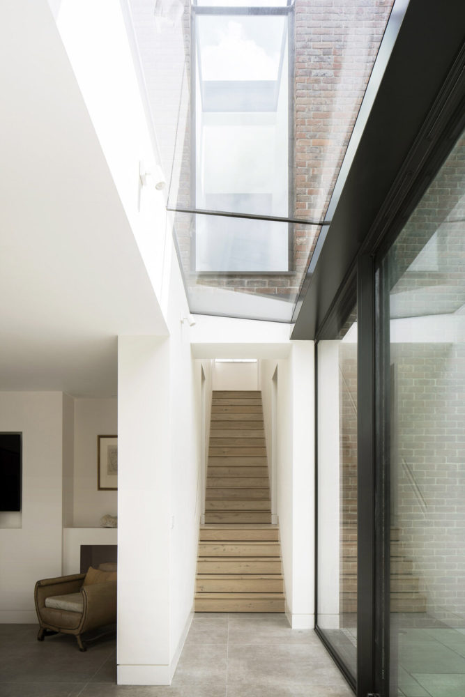 skylight connection on private residence