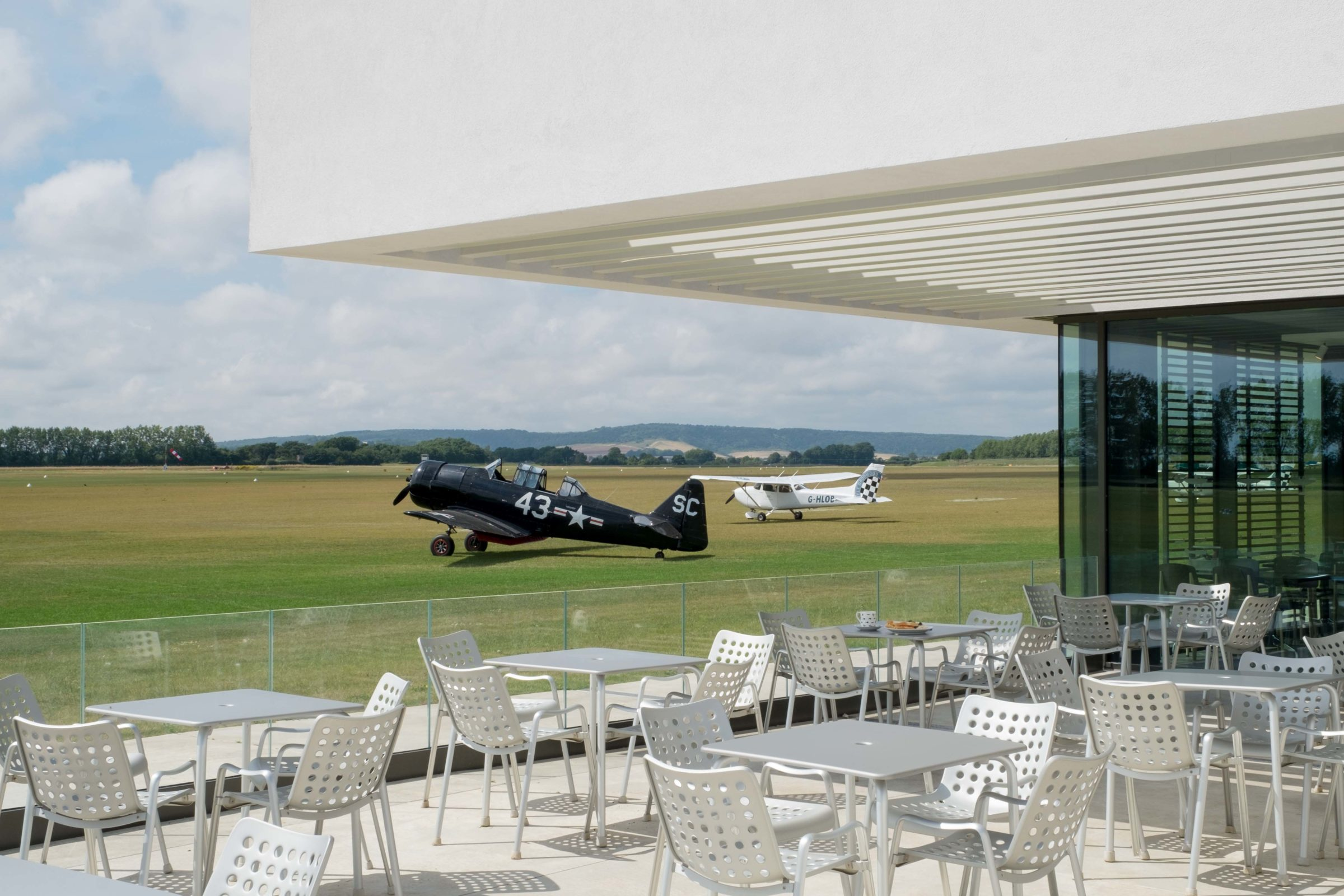 Goodwood Exterior with planes