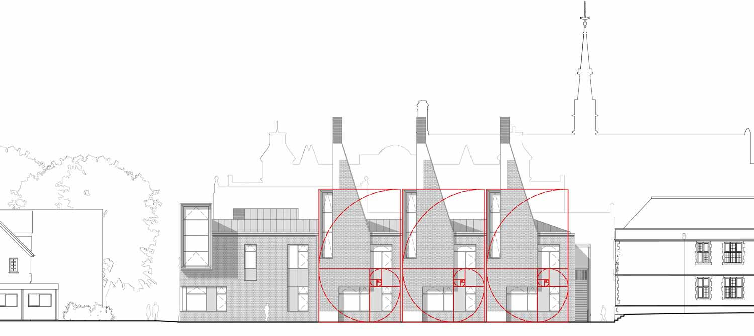 Charterhouse Science North Elevation Proportions
